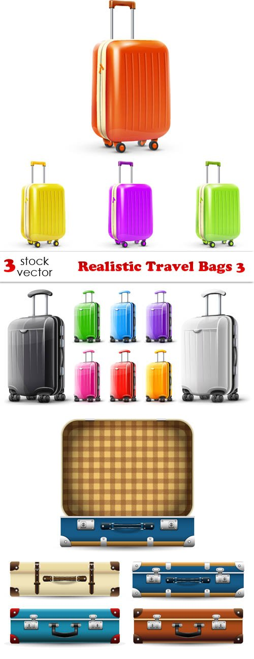 Vectors - Realistic Travel Bags 3