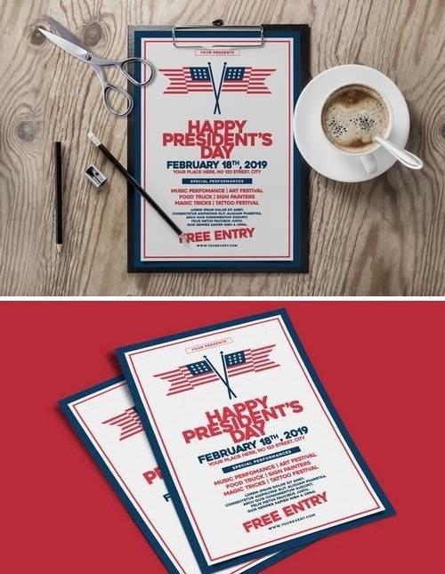 US President's Day Flyer