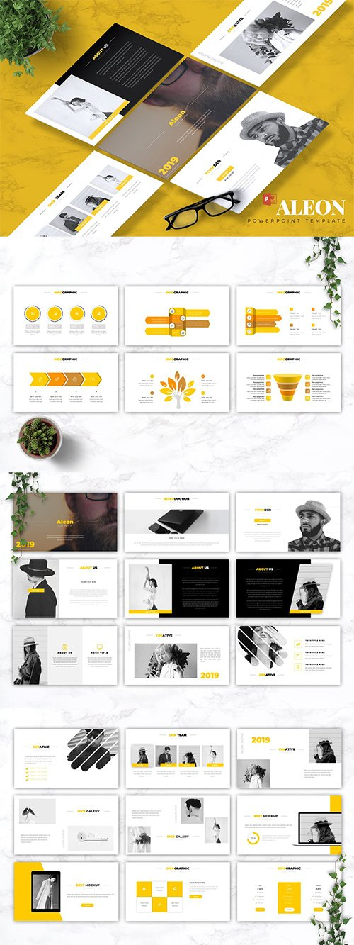 ALEON - Powerpoint, Keynote and Google Slides Template