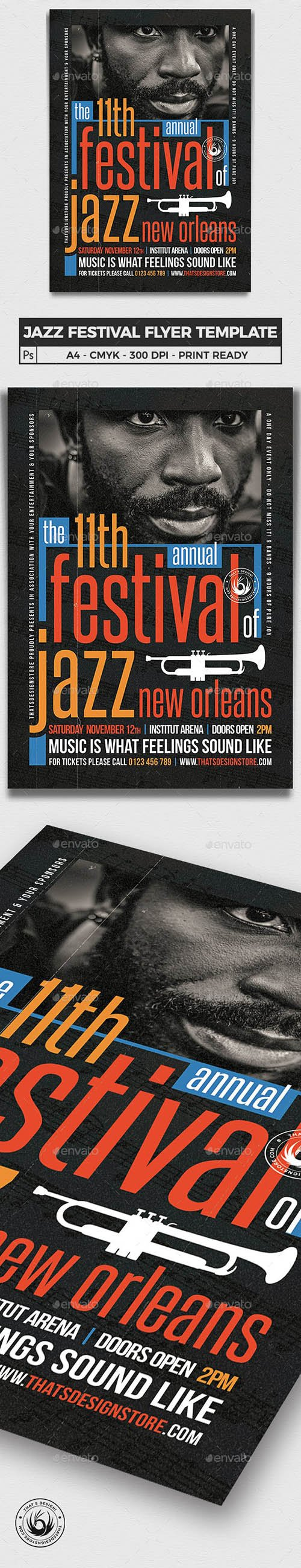 Graphicriver - Jazz Festival Flyer Template V10 23202196