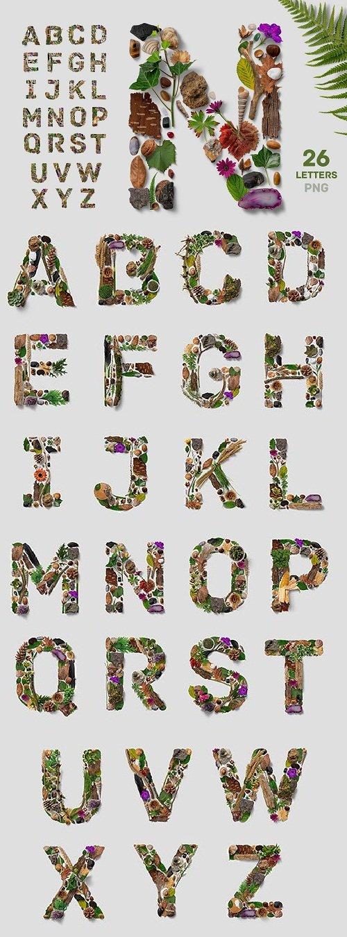 Flatlay Nature Alphabet - 3188909