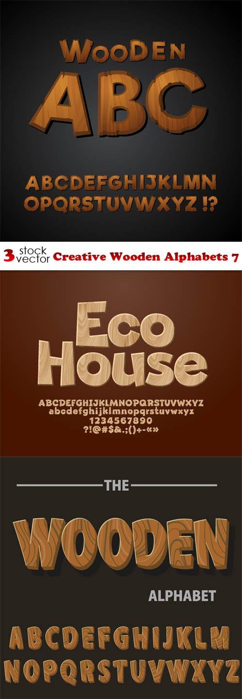 Vectors - Creative Wooden Alphabets 7