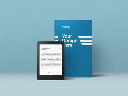 PSDT Book and eBook Reader Mockup 245048553