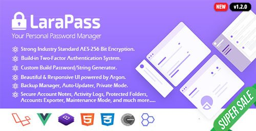 CodeCanyon - LaraPass v1.1.0 - Your Personal Password Manager - 22746554 - NULLED