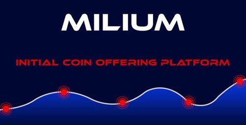 CodeCanyon - Milium v1.0 - Initial Coin Offering ICO Script - 22032629