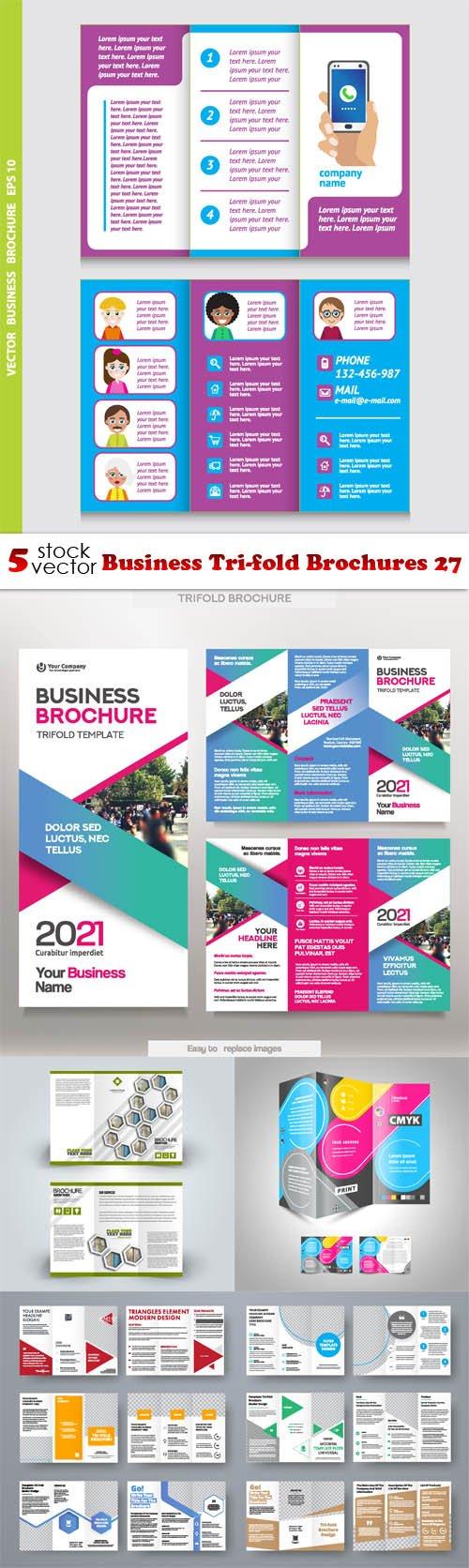 Vectors - Business Tri-fold Brochures 27