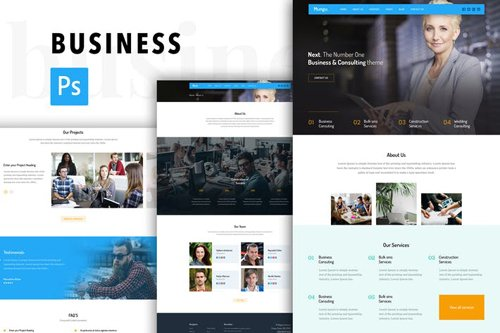 Business Consulting Agency PSD Template