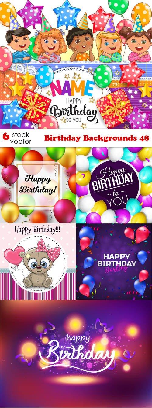 Vectors - Birthday Backgrounds 48
