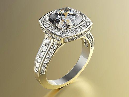 Engagement Ring 3D print model