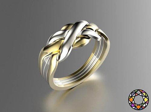 Puzzle ring 0071 3D print model