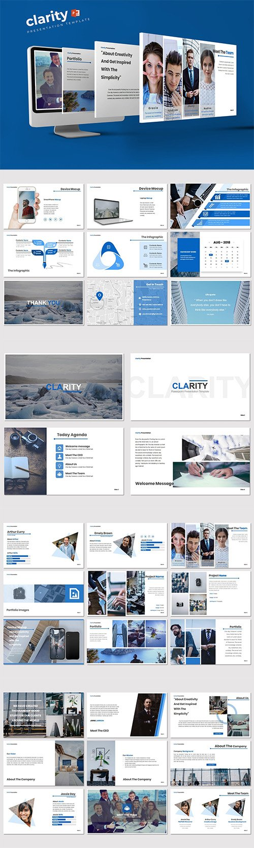 Clarity - Powerpoint, Keynote and Google Slides Template
