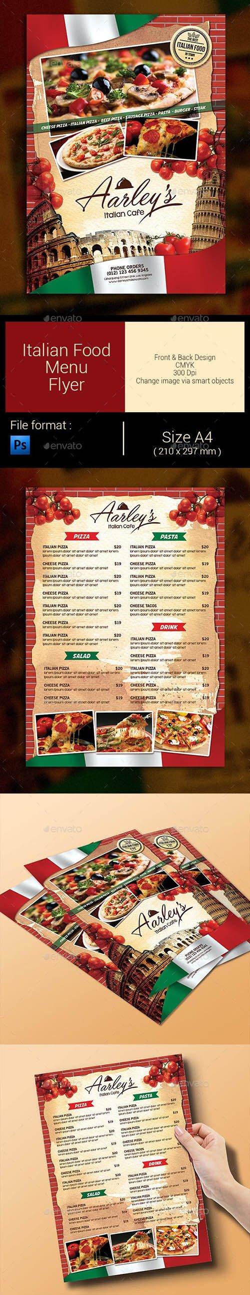 GR - Italian Food Menu Flyer 9267264