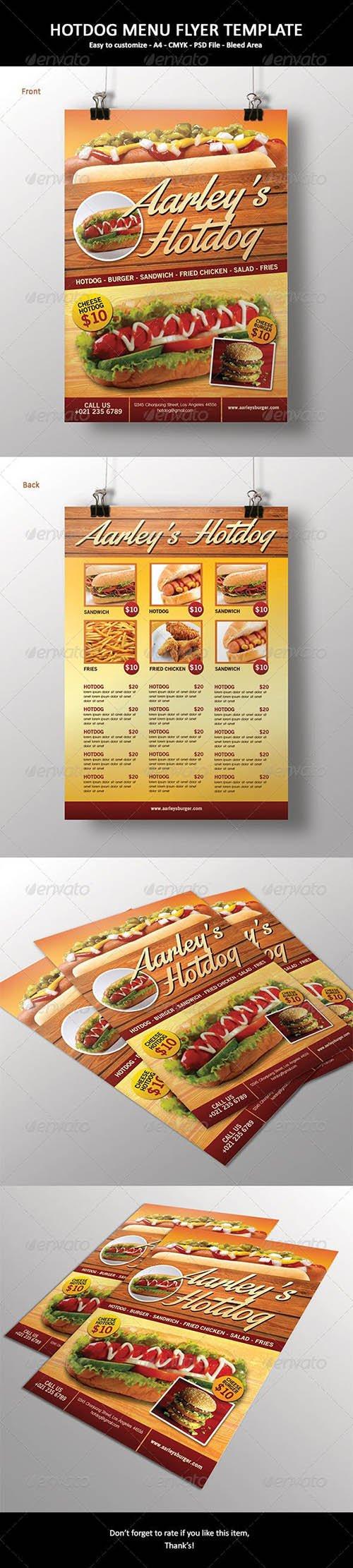 GR - Hotdog Menu Flyer 6529533