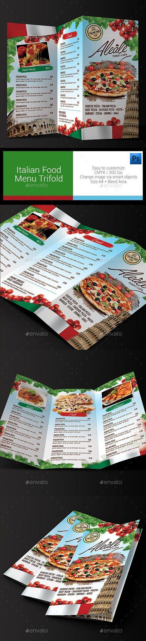GR - Italian Food Menu Trifold 11335600