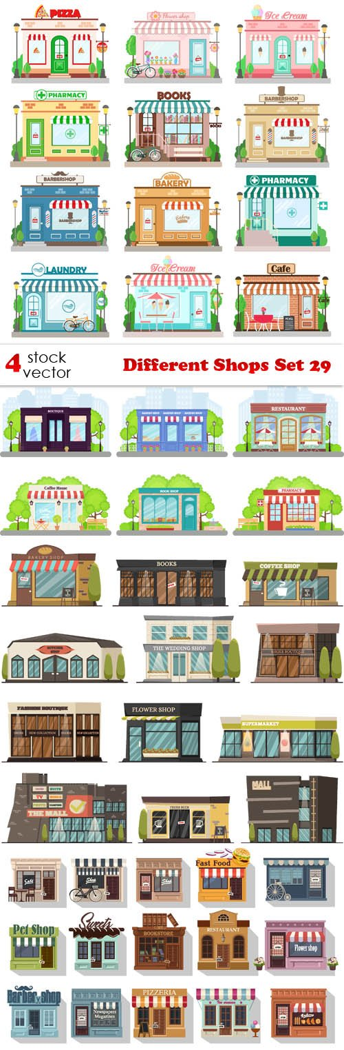 Vectors - Different Shops Set 29