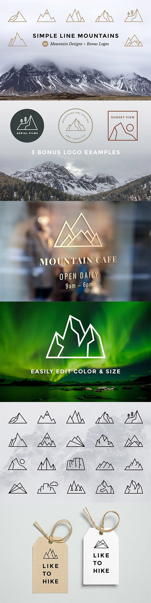Simple Line Mountains