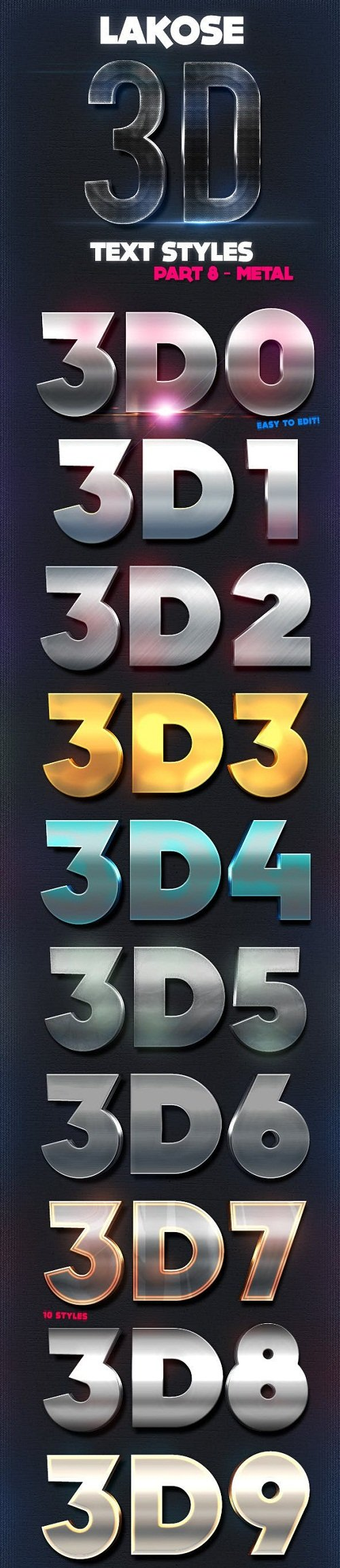 Lakose 3D Text Styles Part 8 8713267