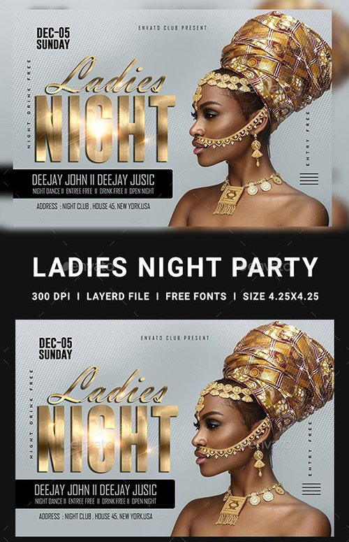 GraphicRiver - Ladies Night Club Flyer 23152761