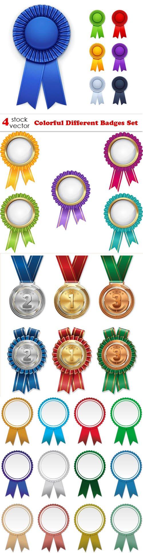 Vectors - Colorful Different Badges Set