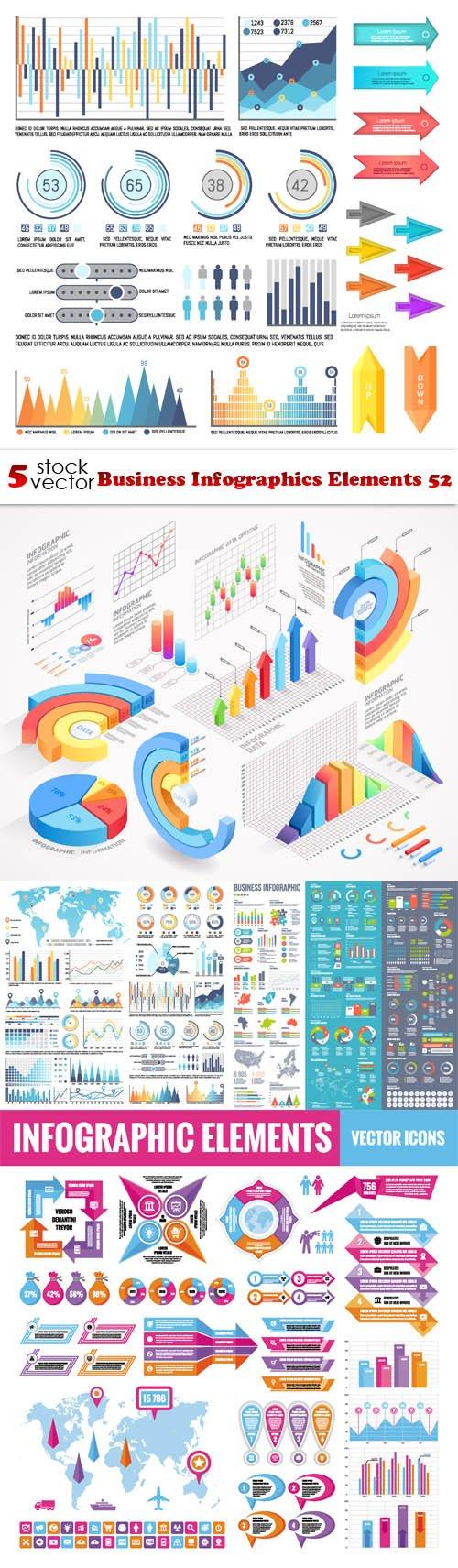 Vectors - Business Infographics Elements 52