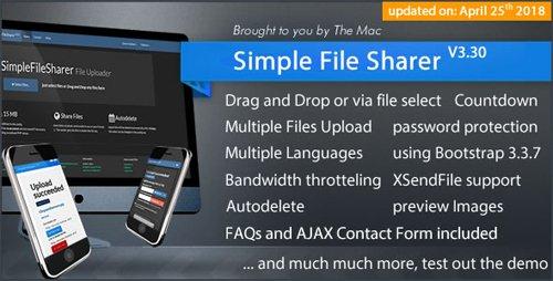 CodeCanyon - Simple File Sharer v3.30 - 4562987