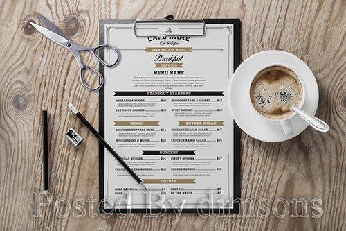 Vintage Cafe & Cofee Menu