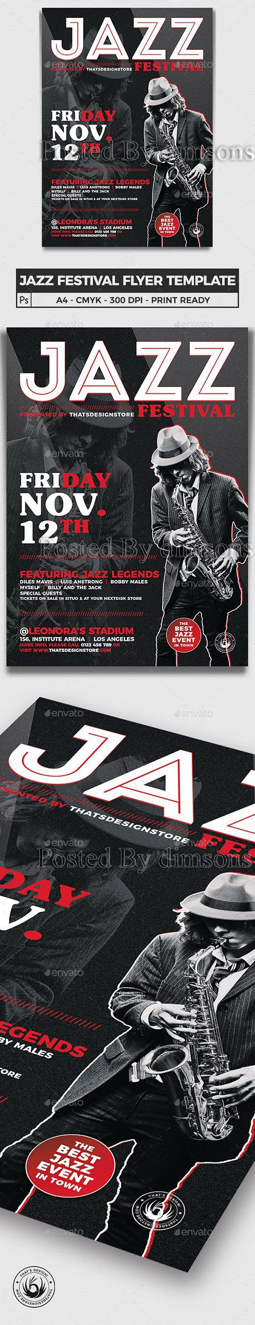 Jazz Festival Flyer Template V3 11848741