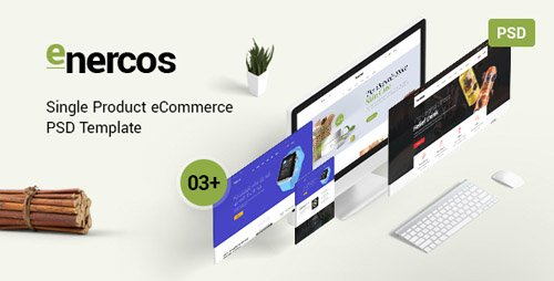 ThemeForest - Enercos v1.0 - Single Product eCommerce PSD Template - 22405608