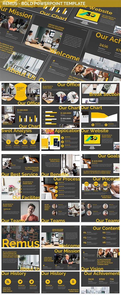 Remus - Bold Powerpoint Template