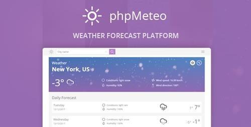CodeCanyon - phpMeteo v1.8.0 - Weather Forecast Platform - 21125163