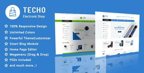 ThemeForest - Techo v1.1 - Minimalist Shopping Electronics Responsive PrestaShop 1.7 Theme - 22069532