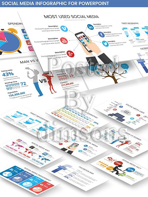 Social Media Infographic Powerpoint