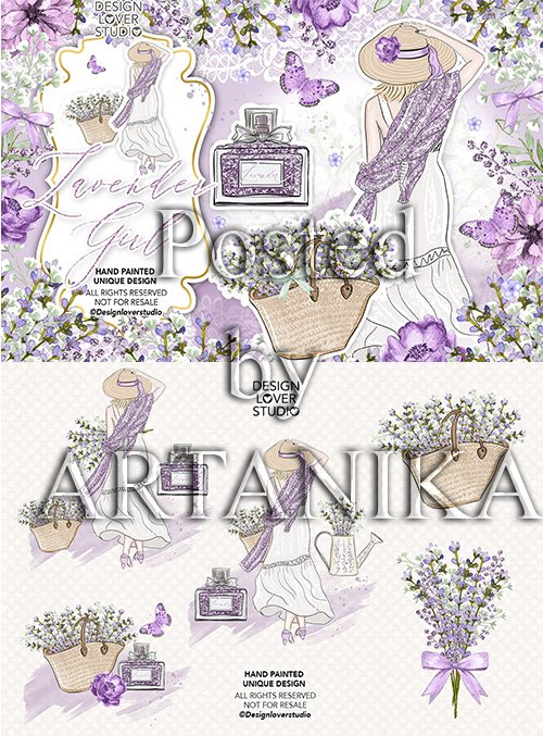 Lavender Girl design