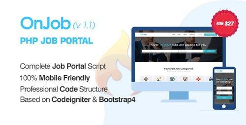 CodeCanyon - OnJob v1.1 - PHP Job Portal Application - 23119146