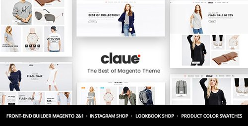 ThemeForest - Claue v1.7.6 - Clean, Minimal Magento 2 and 1 Theme - 20155150