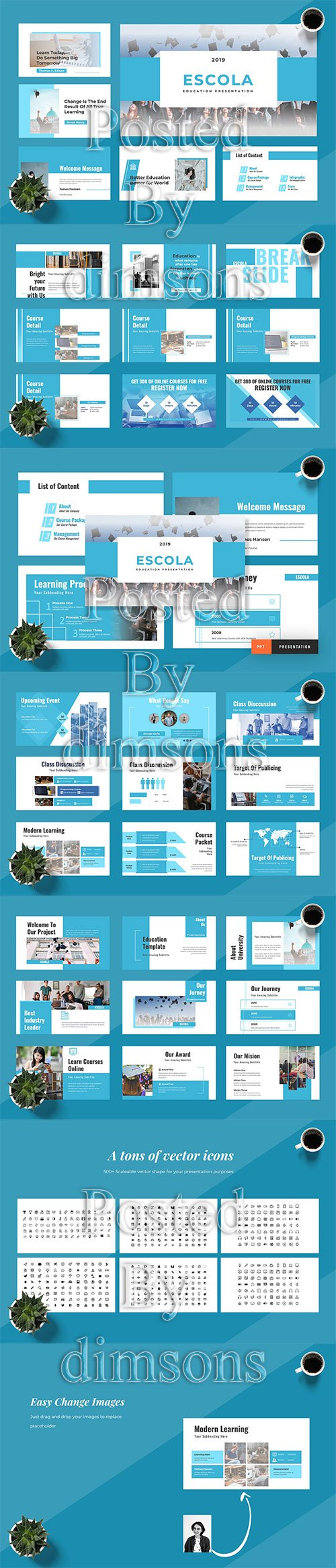 Escola - Powerpoint, Keynote and Google Slides Template