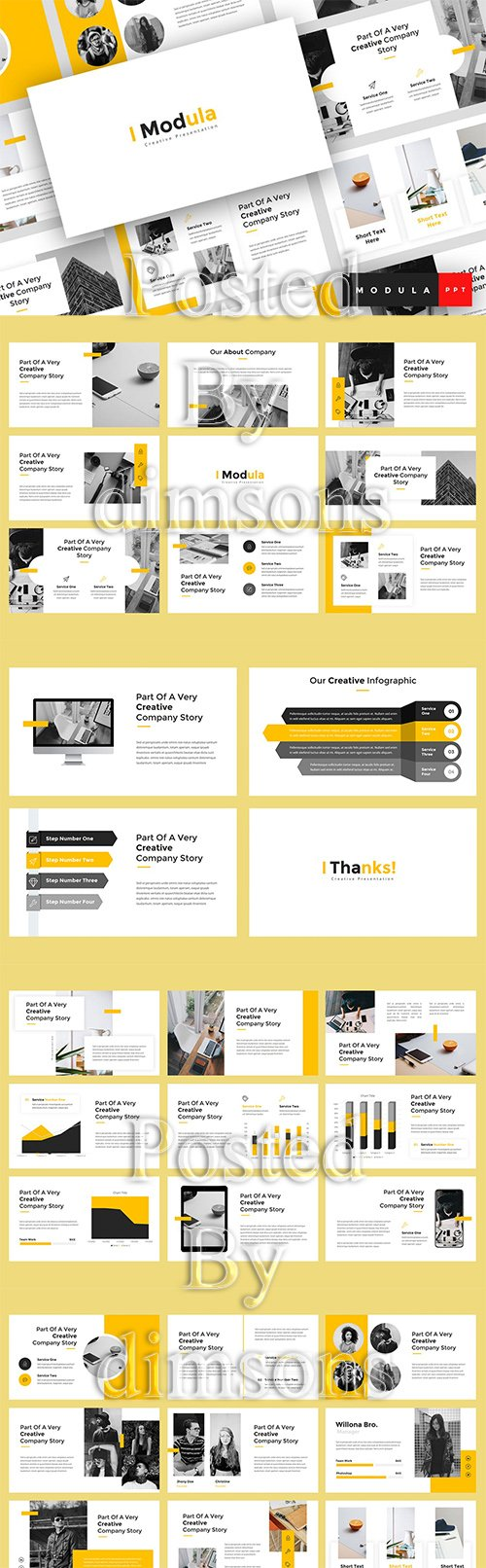 Modula - Creative Powerpoint, Keynote and Google Slides Template
