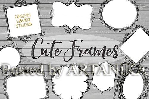 Vector Rustic Cute Frames
