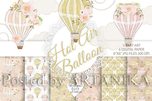 Hot air balloon peony design