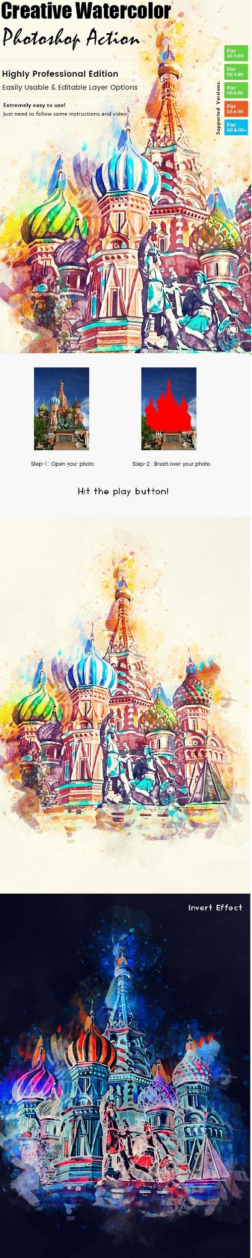 Creative Watercolor Paint Action 23224470