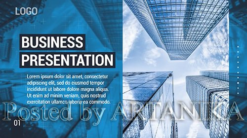 Clean Business Presentation 177100