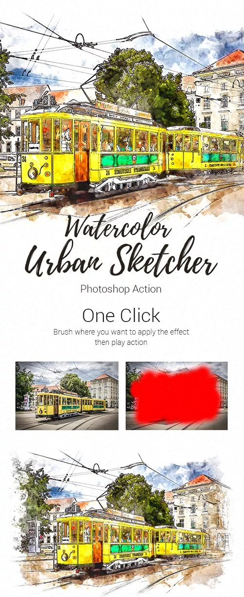 Realistic Urban Sketcher Photoshop Action 23175837