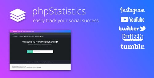 CodeCanyon - phpStatistics v2.3.1 - Social Tracking Tool for Instagram, Twitter, Twitch & YouTube - 21211976