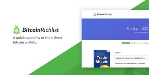 CodeCanyon - Bitcoin Richlist v1.0 - 21816177
