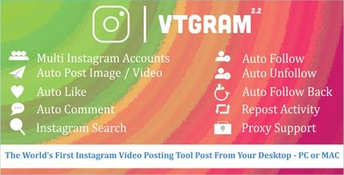CodeCanyon - VTGram v2.2 - Marketing Solutions for Instagram - 18101205 - NULLED