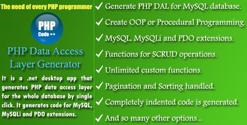CodeCanyon - PHP DAL Generator (Update: 15 December 16) - 14836345