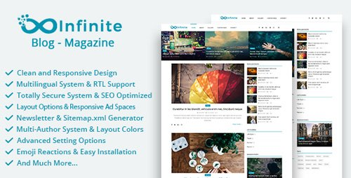 CodeCanyon - Infinite v3.7 - Blog & Magazine Script - 19890709 - NULLED