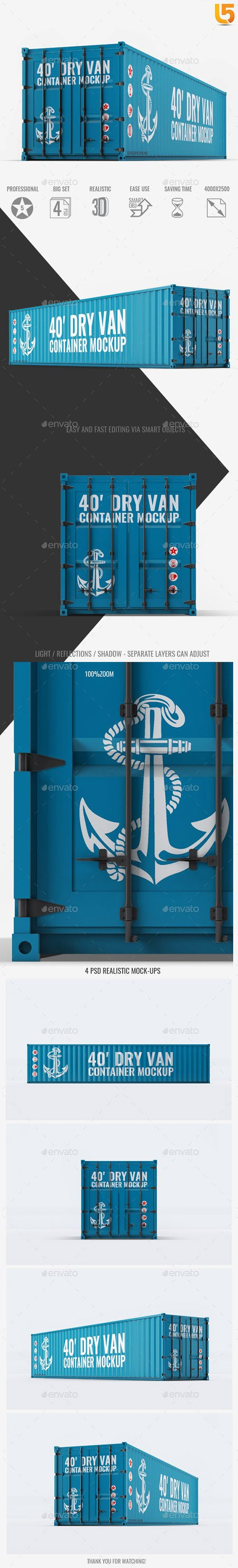 40ft Dry Van Container Mock-up 23224509