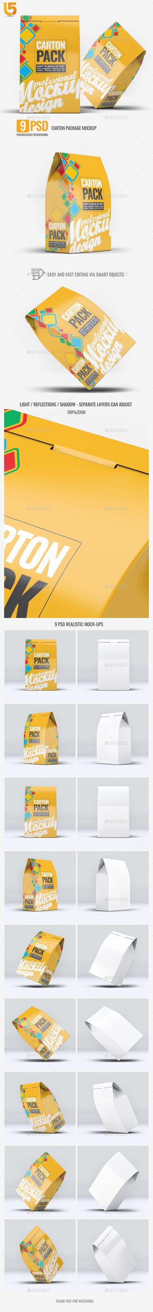 Carton Box Pack Mock-Up 23224959