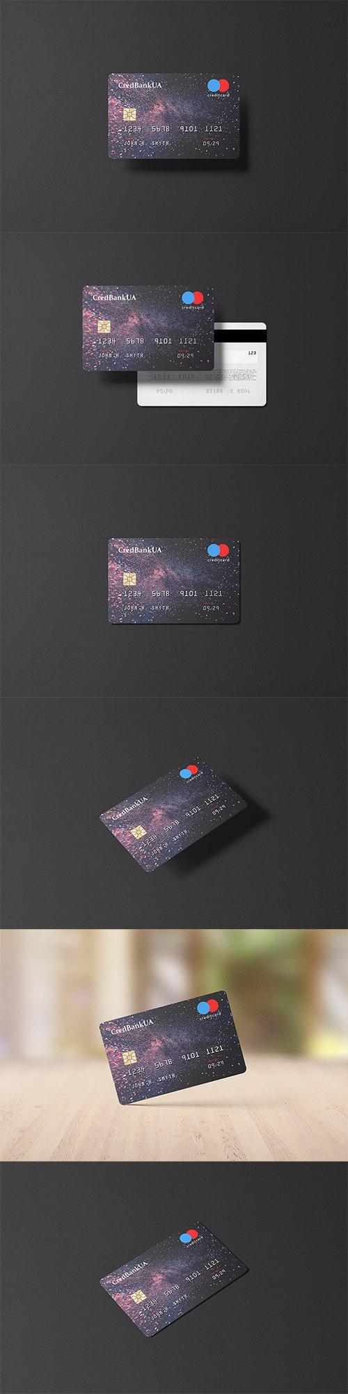 85x55 Landscape Credit Card Mockup